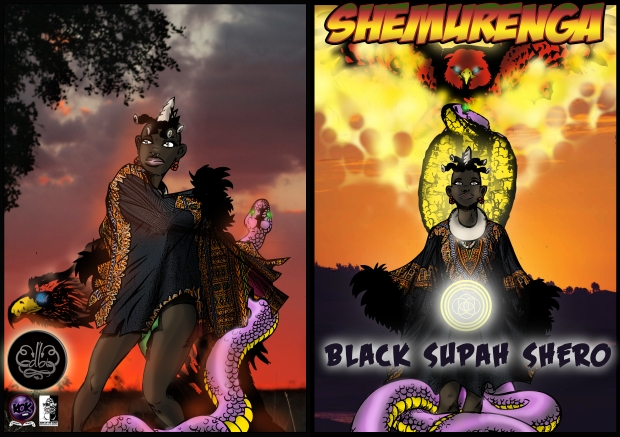 SHEMURENGA black supah shero comic