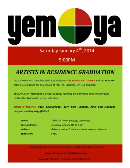 YEMOYA GRADUATION FLYER