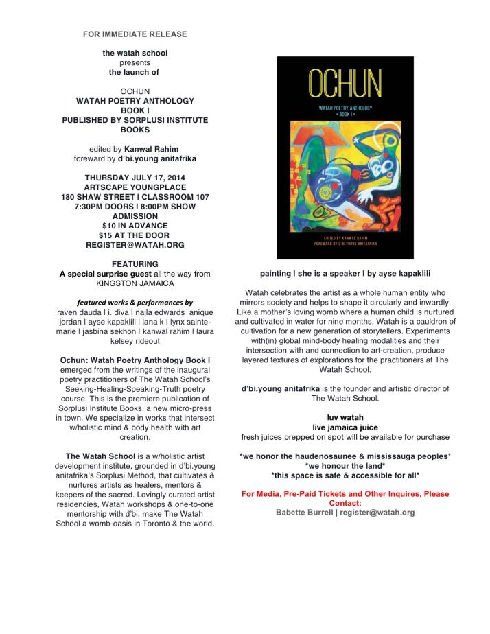 Ochun Launch Official Press Release