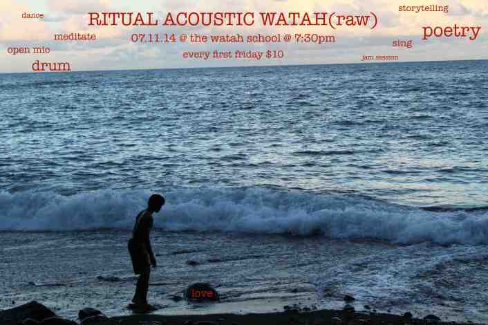 ritual acoustic watah flyer