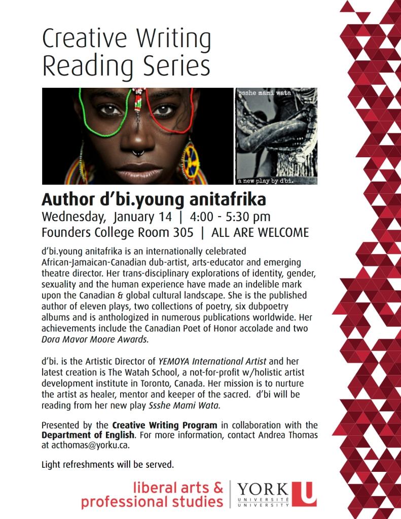 d'biyoung reads at York University