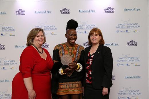 ywca awards with d'bi